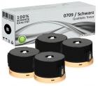 4x Alternativ Epson Toner 0709 Schwarz Set