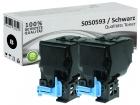 Alternativ Epson Toner S050593 Schwarz Doppelpack