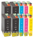 10x Alternativ Epson Patronen 35 XL (Schloss) Mehrfarbig