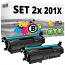 2x Alternativ HP Toner 201X / CF400X Schwarz