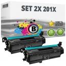 2x Alternativ HP Toner 201X / CF400X Schwarz