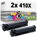 2x Alternativ HP Toner 410X / CF410X Schwarz Set