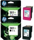 Original HP Patronen 301XL CH563EE CH564EE Set