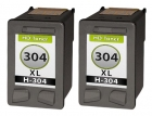 2x Alternativ HP Patrone 304 / N9K08AE Schwarz