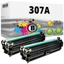 2x Alternativ HP Toner 307A CE740A Schwarz