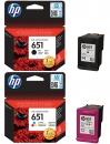 Original HP Patronen 651 im Set Mehrfarbig