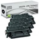 Sparset 4x Alternativ HP Toner C4127X / 27X Schwarz