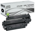 Set 2x Alternativ HP Toner 15X C7115X Schwarz