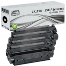 Set 4x Alternativ HP Toner 15X C7115X Schwarz