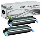 2x Alternativ HP Toner 641A C9720A Schwarz