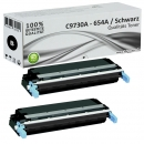 2x Alternativ HP Toner 645A C9730A Schwarz