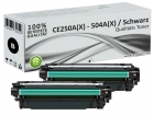 2x Alternativ HP Toner 504X CE250A/X Schwarz