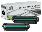 2x Alternativ HP Toner 650A CE270A Schwarz