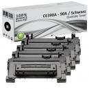 Sparset 4x Alternativ HP 90A Toner CE390A Schwarz