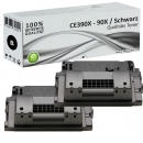 2x Alternativ HP 90X Toner CE390X Schwarz