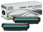 2x Alternativ HP Toner 507X / CE400X Schwarz
