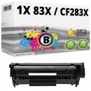 Alternativ HP Toner CF283X / 83X Schwarz