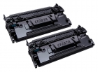 2x Alternativ HP Toner CF287A / 87A Schwarz