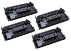 4x Alternativ HP Toner CF287A / 87A Schwarz