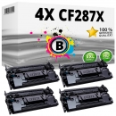 Alternativ HP Toner Set 87X / CF287X 4x Schwarz