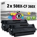 2x Alternativ HP Toner 508X / CF360X Schwarz