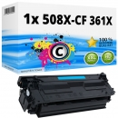 Alternativ HP Toner 508X / CF361X Cyan