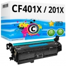 Alternativ HP Toner 201X / CF401X Cyan
