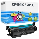 Alternativ HP Toner 201X / CF401X Cyan