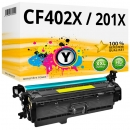 Alternativ HP Toner 201X / CF402X Gelb / Yellow