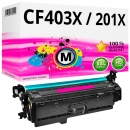 Alternativ HP Toner 201X / CF403X Magenta