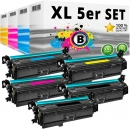 Alternativ HP Toner 201X / CF400X CF401X CF402X CF403X 5er Set