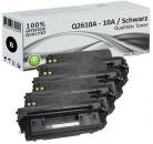 Set 4x XL Alternativ HP Toner Q2610X / 10A Schwarz