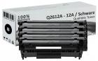 Sparset 4x Alternativ HP Toner Q2612A / 12A Schwarz