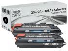 Alternativ HP Toner 308A Q2670A Schwarz Doppelpack
