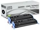 Alternativ HP Toner 124A Q6000A Schwarz Doppelpack