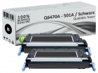 Alternativ HP Toner 501A Q6470A Schwarz Doppelpack