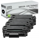 Sparset 4x Alternativ HP Toner Q6511X / 11X Schwarz