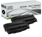Set 2x Alternativ HP Toner Q7516A / 16A Schwarz
