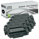 Sparset 4x Alternativ HP Toner Q7551X / 51X Schwarz