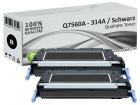 Alternativ HP Toner 314A Q7560A Schwarz Doppelpack