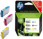 SD532AE original HP Tintenpatronen No.920 XL Cyan Magenta, Yellow Set