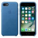 Apple iPhone 7 / 8 Leder Case - Seeblau
