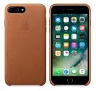 Apple iPhone 7 Plus / 8 Plus Leder Case - Sattelbraun