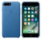 Apple iPhone 7 Plus / 8 Plus Leder Case - Seeblau