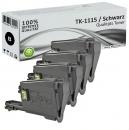 Set 4x Alternativ Kyocera Toner TK-1115 Schwarz