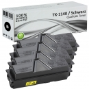 Set 4x Alternativ Kyocera Toner TK-1140 Schwarz
