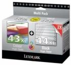 Original Lexmark Patronen 43 + 44 80D2966 Multipack