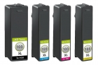 4x Alternativ Lexmark Druckerpatronen 100XL