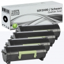 4x Alternativ Lexmark Toner 502H 50F2H00 Schwarz Set
