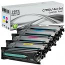 Alternativ Lexmark Toner C7700 XL Set Mehrfarbig